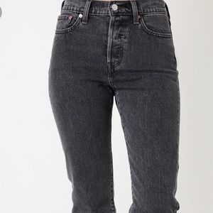 Levi's faded black wedgie jeans
